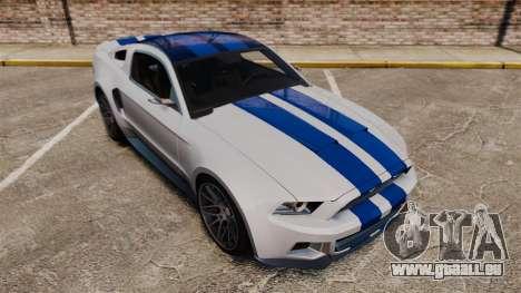 Ford Mustang GT 2013 NFS Edition für GTA 4 obere Ansicht