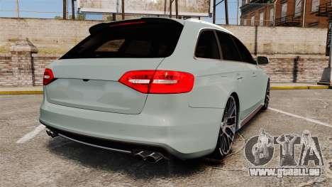 Audi RS4 Avant pour GTA 4 Vue arrière de la gauche