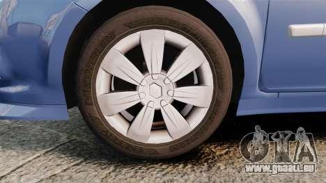 Renault Clio III Phase 2 pour GTA 4 Vue arrière