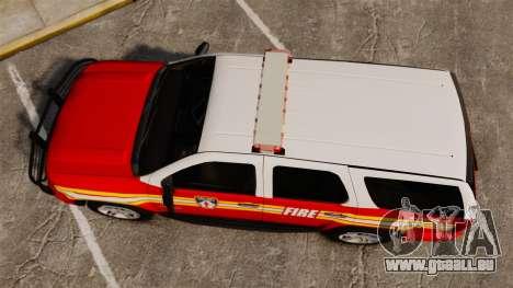 Chevrolet Tahoe Fire Chief v1.4 [ELS] für GTA 4 rechte Ansicht