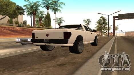 Bison de GTA 5 pour GTA San Andreas laissé vue