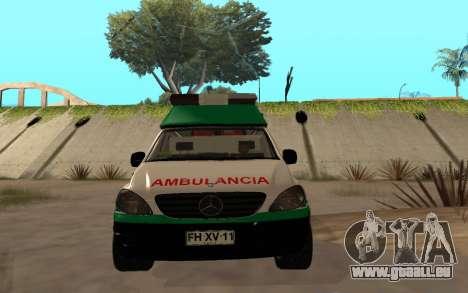 Mercedes-Benz Vito Ambulancia ACHS 2012 für GTA San Andreas Innenansicht