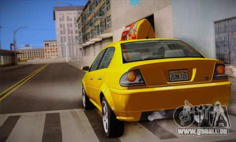 Declasse Premier Taxi pour GTA San Andreas vue de côté