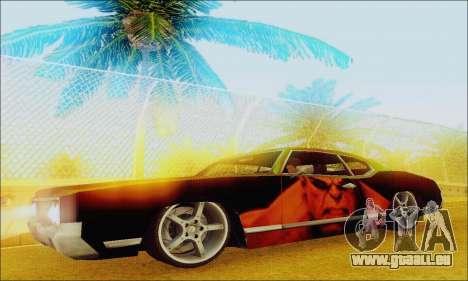 Modified Sabre Low pour GTA San Andreas laissé vue