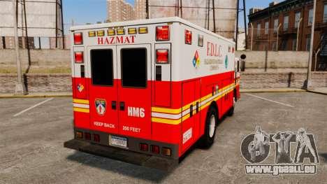 Hazmat Truck FDLC [ELS] pour GTA 4 Vue arrière de la gauche