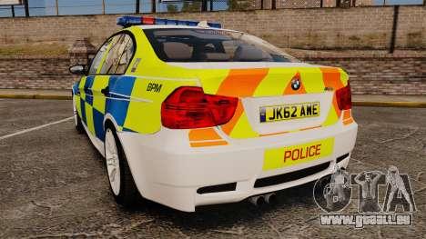 BMW M3 British Police [ELS] für GTA 4 hinten links Ansicht