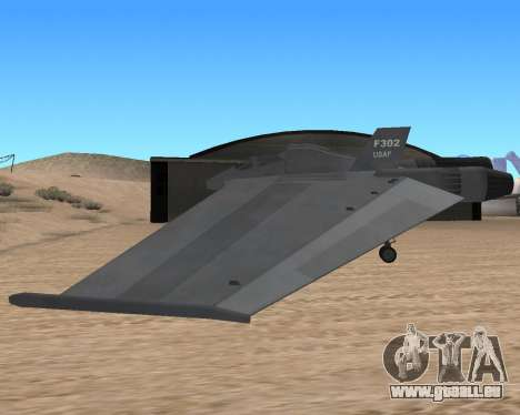 StarGate F-302 pour GTA San Andreas vue arrière