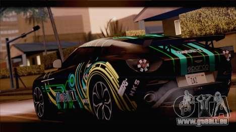 Aston Martin V12 Zagato 2012 [HQLM] pour GTA San Andreas vue arrière