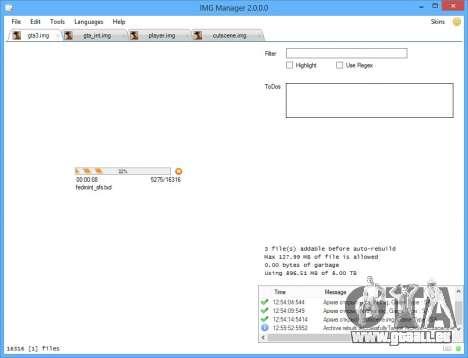IMG Manager 2.0 pour GTA San Andreas quatrième écran