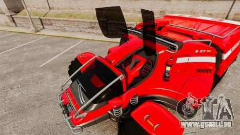 Pro Track SR2 Firetruck [ELS] für GTA 4-Motor