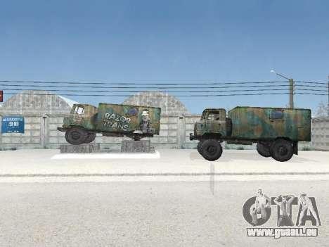 GAZ 66 für GTA San Andreas Innenansicht