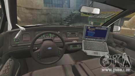 Ford Crown Victoria 1999 Unmarked Police für GTA 4 Rückansicht