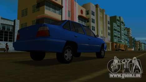 Daewoo Cielo pour GTA Vice City sur la vue arrière gauche