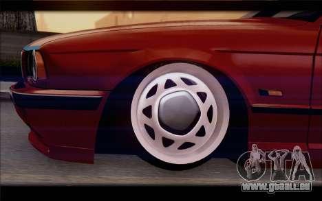 BMW E34 für GTA San Andreas zurück linke Ansicht