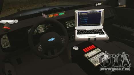 Ford Crown Victoria Stealth [ELS] pour GTA 4 Vue arrière