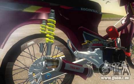Honda Dream 100 VietNam pour GTA San Andreas vue arrière
