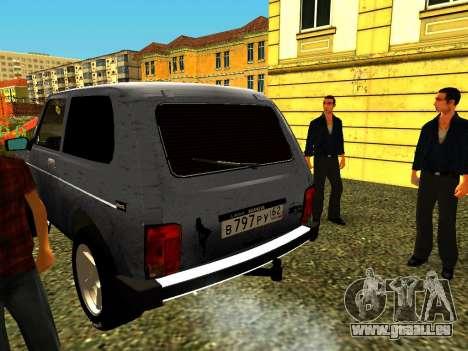 VAZ 21214 für GTA San Andreas zurück linke Ansicht