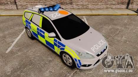 Ford Focus Estate 2009 Police England [ELS] pour GTA 4 est une vue de l'intérieur