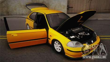 Honda Civic 1.4is TMC pour GTA San Andreas vue intérieure