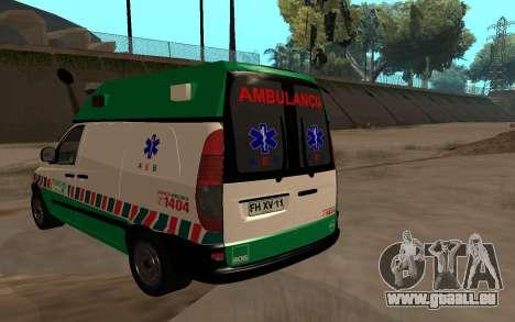 Mercedes-Benz Vito Ambulancia ACHS 2012 für GTA San Andreas linke Ansicht