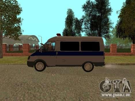 GAZ Police Sable pour GTA San Andreas sur la vue arrière gauche