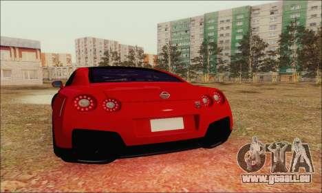 Nissan GT-R Spec V pour GTA San Andreas vue de dessus
