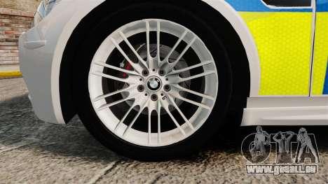 BMW M3 British Police [ELS] pour GTA 4 Vue arrière