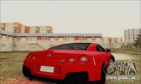 Nissan GT-R Spec V pour GTA San Andreas vue de côté