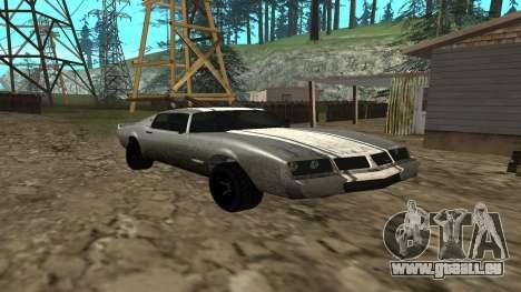 Phoenix de GTA V pour GTA San Andreas sur la vue arrière gauche