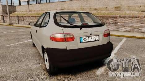 Daewoo Lanos S PL 1997 pour GTA 4 Vue arrière de la gauche
