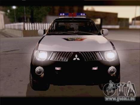Mitsubishi L200 POLICIA pour GTA San Andreas vue de droite