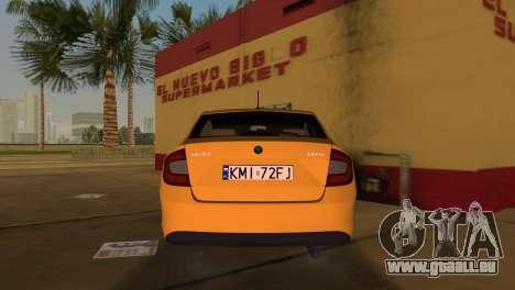 Skoda Rapid 2013 pour GTA Vice City sur la vue arrière gauche