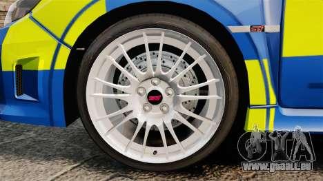 Subaru Impreza WRX STI 2011 Police [ELS] pour GTA 4 Vue arrière