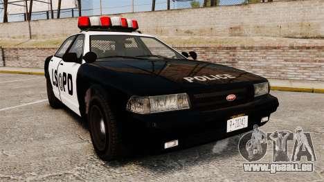 GTA V Vapid Police Cruiser LSPD pour GTA 4