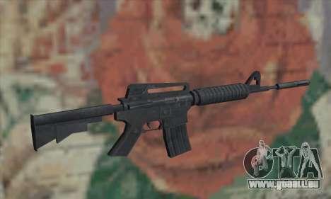 M4A1 de Saints Row 2 pour GTA San Andreas deuxième écran