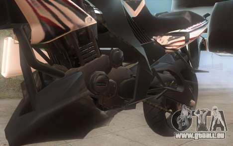 Yamaha V-ixion 150cc 2012 Touring Edition pour GTA San Andreas sur la vue arrière gauche