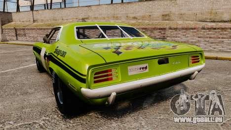 Plymouth Cuda AAR 1970 für GTA 4 hinten links Ansicht