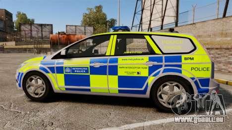 Ford Focus Estate Metropolitan Police [ELS] pour GTA 4 est une gauche