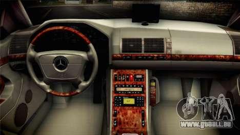 Mercedes-Benz S600 V12 V1.2 pour GTA San Andreas sur la vue arrière gauche
