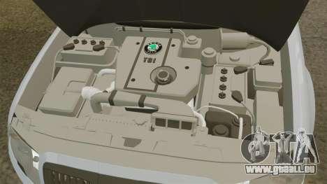 Skoda Superb 2006 Unmarked Police [ELS] pour GTA 4 est une vue de l'intérieur