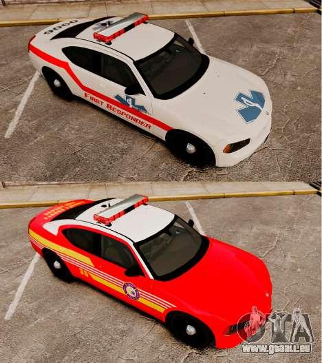 Dodge Charger First Responder [ELS] pour GTA 4 Vue arrière