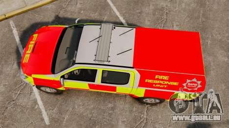 Toyota Hilux British Rapid Fire Cover [ELS] für GTA 4 rechte Ansicht