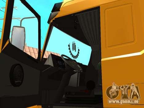 MAZ 6312A8 pour GTA San Andreas vue arrière