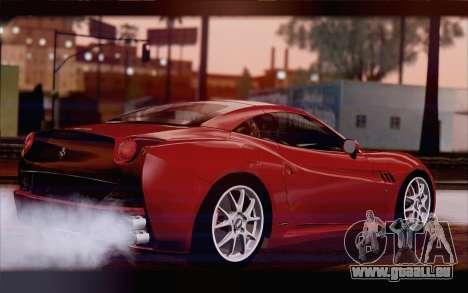 Ferrari California für GTA San Andreas linke Ansicht