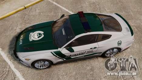 Ford Mustang GT 2015 Police für GTA 4 rechte Ansicht