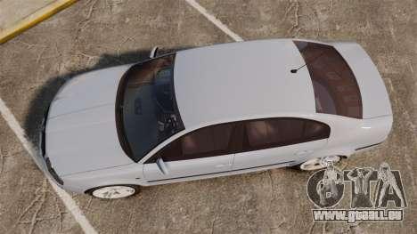 Skoda Superb 2006 Unmarked Police [ELS] für GTA 4 rechte Ansicht