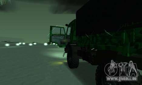 Armée KAMAZ 4310 pour GTA San Andreas sur la vue arrière gauche