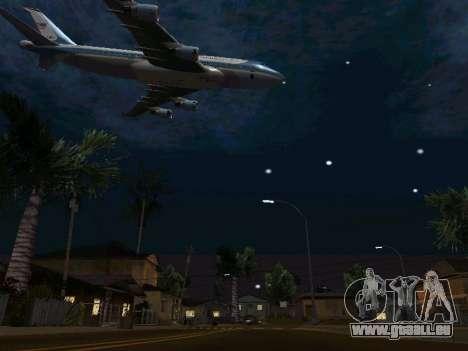 Boeing-747-400 Airforce one pour GTA San Andreas vue de dessus