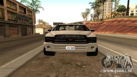 Bison de GTA 5 pour GTA San Andreas sur la vue arrière gauche