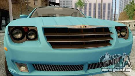 Chrysler Crossfire für GTA San Andreas Rückansicht